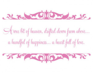 of Heaven - Baby Nursery Vinyl Wall Decal Quote Lettering - Baby Girl ...