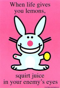 love Happy Bunny and all of the different quotes and phrases are ...