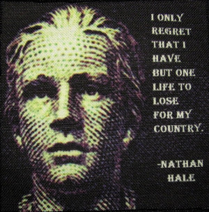 NATHAN HALE QUOTE - Printed Patch - Sew On - Vest, Bag, Backpack ...