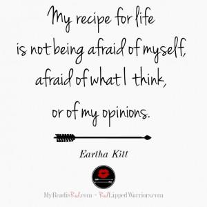 Eartha Kitt quote on life