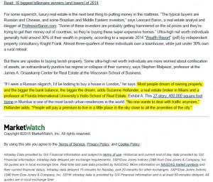 Wall St Journal Quotes Suzanne Hollander, Miami Broker, Professor ...