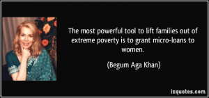 The most powerful tool to lift families out of extreme poverty is to ...