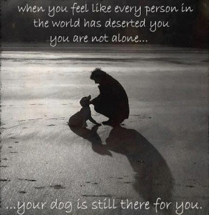 ... has deserted you you are not alone... your dog is still there for you