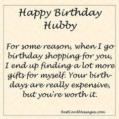 Funny Birthday Message for your Husband. #birthday #wishes #husband ...