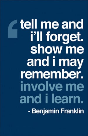 True learning comes from getting involved. is creative inspiration for ...