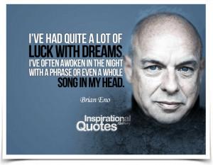 BRIAN ENO QUOTES image quotes at BuzzQuotes.com