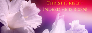 Easter Facebook Cover Christ is Risen EmbeddedFaith.org