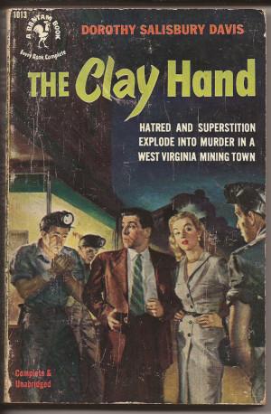 Bantam Books Dorothy Salisbury Davis The Clay Hand 1st Ed 1952
