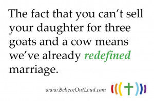 What's that you were saying about Traditional Marriage?