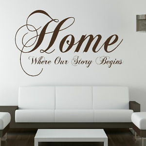 ... Wall Sticker / Decal Transfer / Mural Graphic Ar Stencil SML/BLK niq7