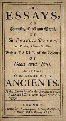 Essays (Francis Bacon)