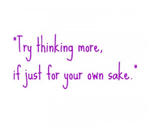 Think for yourself song lyric