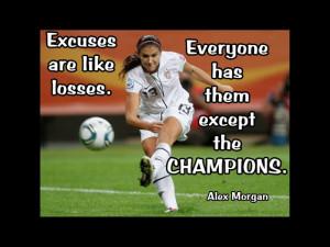 Soccer Poster Alex Morgan Photo Quote Wall Art Print 5x7