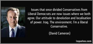 Issues that once divided Conservatives from Liberal Democrats are now ...