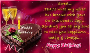 ... you all my love to wish you happiness today always happy birthday