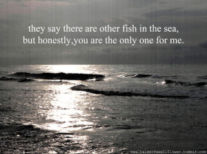 fish, love, ocean, quote, text, typography