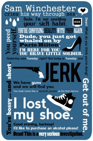 Supernatural - Sam Winchester Quotes Art Print