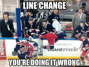 SportsMemes.net > Hockey Memes > NHL Line Change Fail