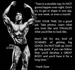 Deadlift Quotes Frank zane training advice