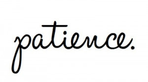 Practice patience with my kids!