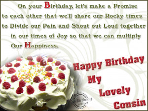 Happy Birthday Quotes For Cousin Sister Happy birthday to a lovely
