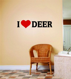 Love Deer Picture Quote Hunting Hunter Sport Hobby Wall Sticker ...