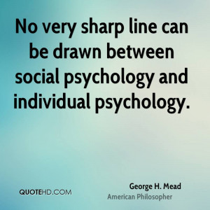 George H. Mead Quotes