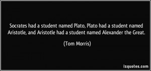 named Plato, Plato had a student named Aristotle, and Aristotle ...