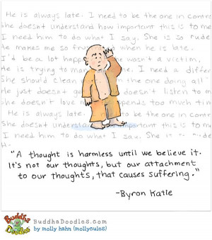 Our attachment to thoughts cause our suffering - not the thought ...