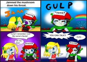 SPOILERS Cave Story Comic: Mushrooms by purplemagechan