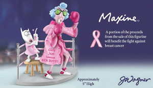 ... Kick Butt Breast Cancer Awareness Figurine - Kick Breast Cancer