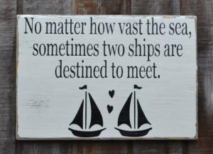Decor Nautical Wedding Gift Sailing Lake Wedding Fish Boat Love Quotes