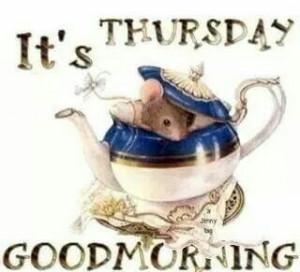 It's Thursday. .