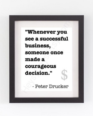 Office Decor Motivational Quote Typography Drucker by HeysyDays, $20 ...