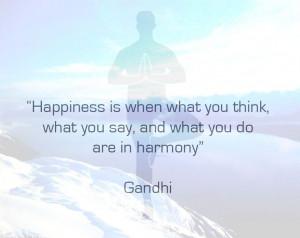 yoga #happiness #harmony #quote #gandhi