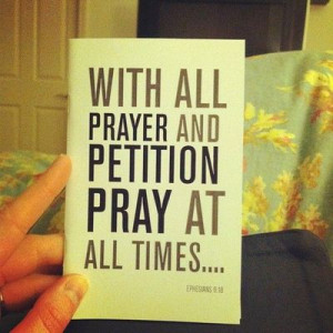 really awesome advice on improving your prayer life.