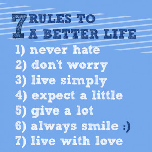 Simple Rules To A Better
