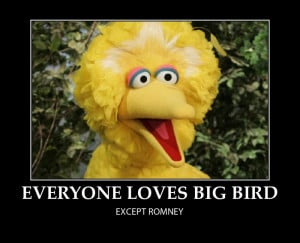 Big Bird and Romney