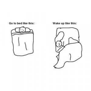 bed, funny, quote, wake up