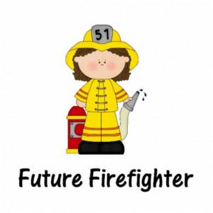 Cute Firefighter Cartoon Future firefighter (girl) cut