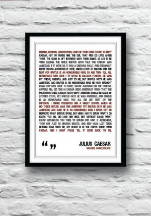 shakespeare quote shakespeare poster julius caesar poster quote poster ...
