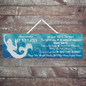 ... Mermaid, Ocean Waves & Beach Quotes, Beach Décor, Mermaid Décor