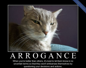 THE SMALL MINDEDNESS OF ARROGANT PEOPLE