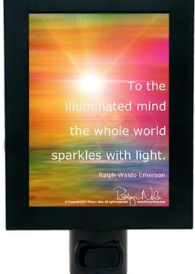 "Illuminated Mind"" Inspirational Quote Night Light"