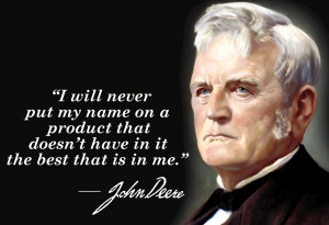 portrait of John Deere, the founder of the company.