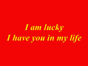 Love My Life Cover Photos Hd I Am Lucky I Have You In My Life ...