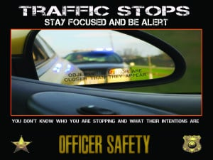 Police Officer Motivation Poster – Traffic Stops 24×18