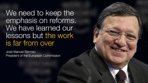 José Manuel Barroso, President of the European Commission, speaking ...