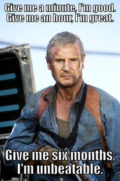 Liam Neeson as Hannibal in The A-Team. More