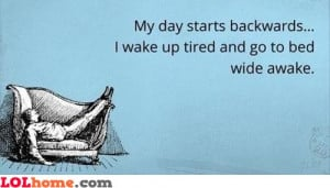 Fact about being tired